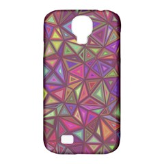 Triangle Background Abstract Samsung Galaxy S4 Classic Hardshell Case (pc+silicone)