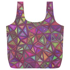 Triangle Background Abstract Full Print Recycle Bags (l)