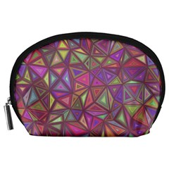 Triangle Background Abstract Accessory Pouches (large)