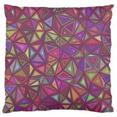 Triangle Background Abstract Standard Flano Cushion Case (two Sides)