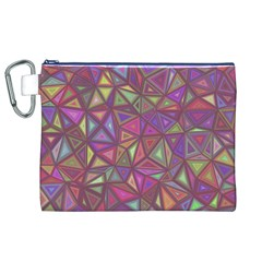 Triangle Background Abstract Canvas Cosmetic Bag (xl)