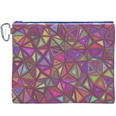 Triangle Background Abstract Canvas Cosmetic Bag (xxxl)