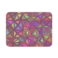 Triangle Background Abstract Double Sided Flano Blanket (mini)