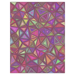 Triangle Background Abstract Drawstring Bag (large)