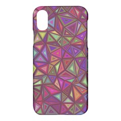Triangle Background Abstract Apple Iphone X Hardshell Case