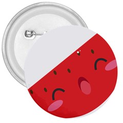 Watermelon Red Network Fruit Juicy 3  Buttons