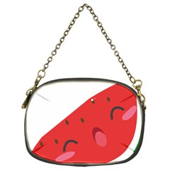 Watermelon Red Network Fruit Juicy Chain Purses (two Sides)