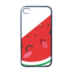 Watermelon Red Network Fruit Juicy Apple Iphone 4 Case (black)