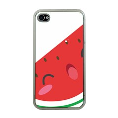 Watermelon Red Network Fruit Juicy Apple Iphone 4 Case (clear)