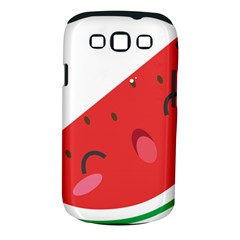 Watermelon Red Network Fruit Juicy Samsung Galaxy S Iii Classic Hardshell Case (pc+silicone)
