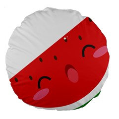 Watermelon Red Network Fruit Juicy Large 18  Premium Round Cushions
