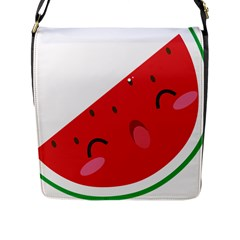 Watermelon Red Network Fruit Juicy Flap Messenger Bag (l)