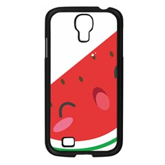 Watermelon Red Network Fruit Juicy Samsung Galaxy S4 I9500/ I9505 Case (black)