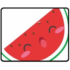 Watermelon Red Network Fruit Juicy Double Sided Fleece Blanket (medium)