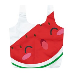 Watermelon Red Network Fruit Juicy Full Print Recycle Bags (l)