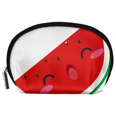 Watermelon Red Network Fruit Juicy Accessory Pouches (large)
