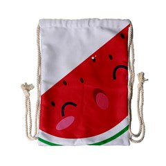 Watermelon Red Network Fruit Juicy Drawstring Bag (small)