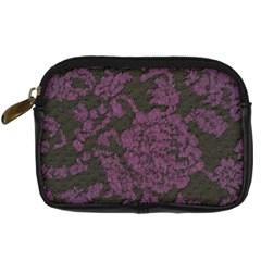 Purple Black Red Fabric Textile Digital Camera Cases