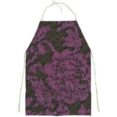 Purple Black Red Fabric Textile Full Print Aprons