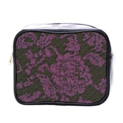 Purple Black Red Fabric Textile Mini Toiletries Bags
