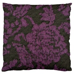 Purple Black Red Fabric Textile Large Cushion Case (one Side)