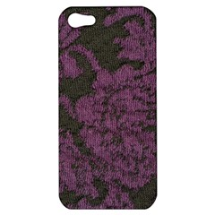 Purple Black Red Fabric Textile Apple Iphone 5 Hardshell Case