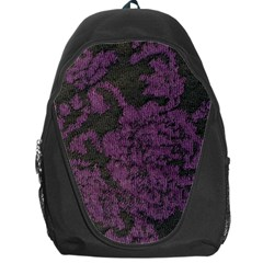 Purple Black Red Fabric Textile Backpack Bag