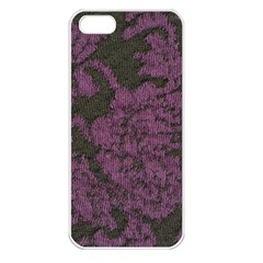 Purple Black Red Fabric Textile Apple Iphone 5 Seamless Case (white)