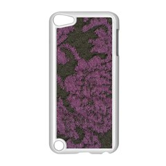 Purple Black Red Fabric Textile Apple Ipod Touch 5 Case (white)