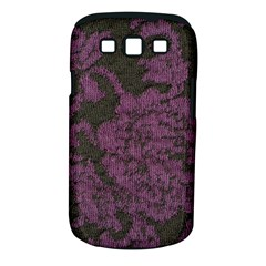 Purple Black Red Fabric Textile Samsung Galaxy S Iii Classic Hardshell Case (pc+silicone)