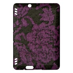 Purple Black Red Fabric Textile Kindle Fire Hdx Hardshell Case