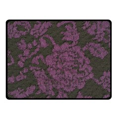 Purple Black Red Fabric Textile Double Sided Fleece Blanket (small)