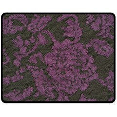 Purple Black Red Fabric Textile Double Sided Fleece Blanket (medium)