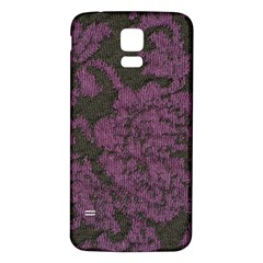 Purple Black Red Fabric Textile Samsung Galaxy S5 Back Case (white)