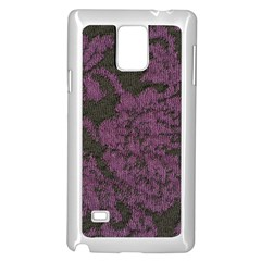 Purple Black Red Fabric Textile Samsung Galaxy Note 4 Case (white)