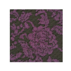 Purple Black Red Fabric Textile Small Satin Scarf (square)