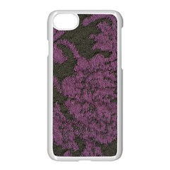 Purple Black Red Fabric Textile Apple Iphone 8 Seamless Case (white)