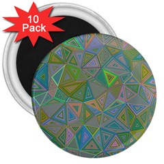 Triangle Background Abstract 3  Magnets (10 Pack)