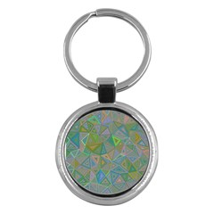 Triangle Background Abstract Key Chains (round)