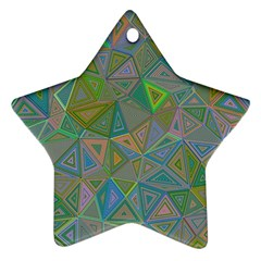 Triangle Background Abstract Star Ornament (two Sides)