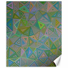 Triangle Background Abstract Canvas 8  X 10