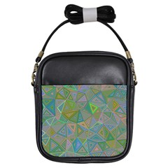 Triangle Background Abstract Girls Sling Bags