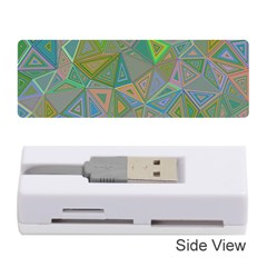 Triangle Background Abstract Memory Card Reader (stick)
