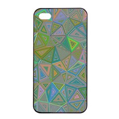 Triangle Background Abstract Apple Iphone 4/4s Seamless Case (black)