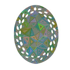 Triangle Background Abstract Oval Filigree Ornament (two Sides)