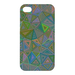 Triangle Background Abstract Apple Iphone 4/4s Premium Hardshell Case