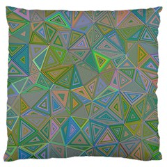 Triangle Background Abstract Large Cushion Case (two Sides)