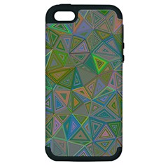 Triangle Background Abstract Apple Iphone 5 Hardshell Case (pc+silicone)