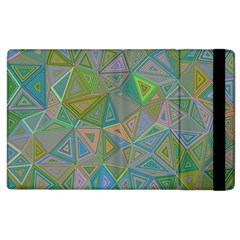Triangle Background Abstract Apple Ipad 2 Flip Case