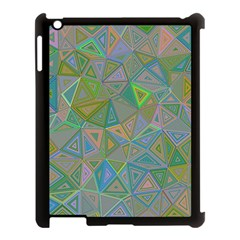 Triangle Background Abstract Apple Ipad 3/4 Case (black)